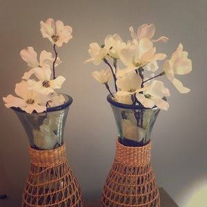 Two Centerpieces-Floral Vases